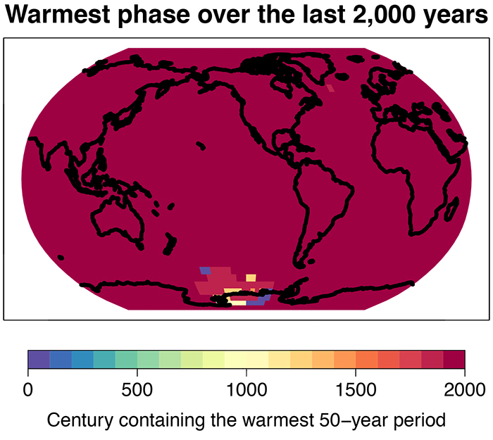 2k warmest timing map noax